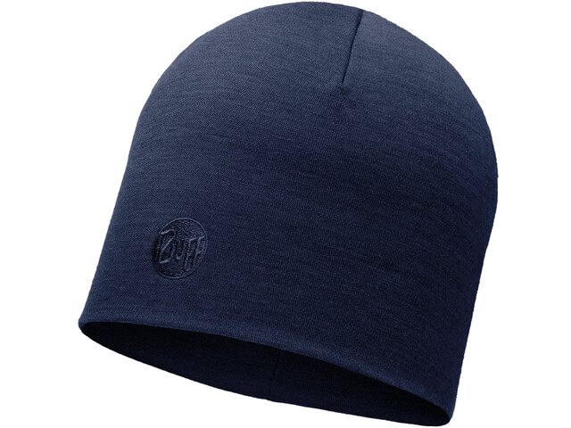 Buff Heavyweight Merino Wool Hat Regular Solid Denim